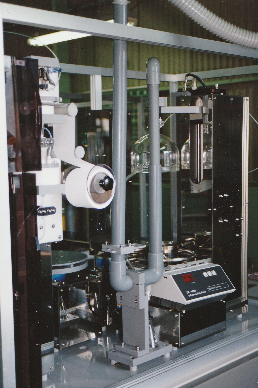 硫酸加熱分解部と排ガス配管