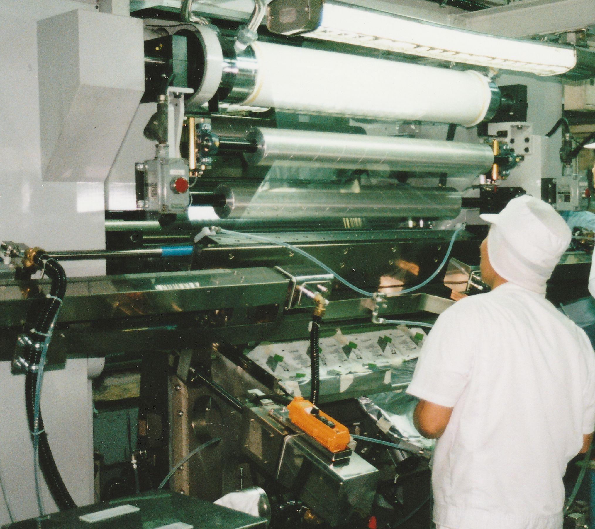 巾替え・洗浄高速薄膜シャトルダイコーター運転2