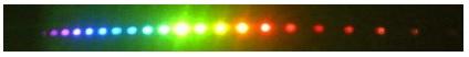 10数色の回転ラマンレーザー